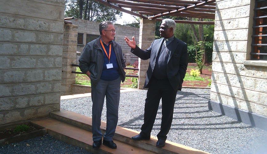 SOMIRENEC Founder Fr. Pierli (left)